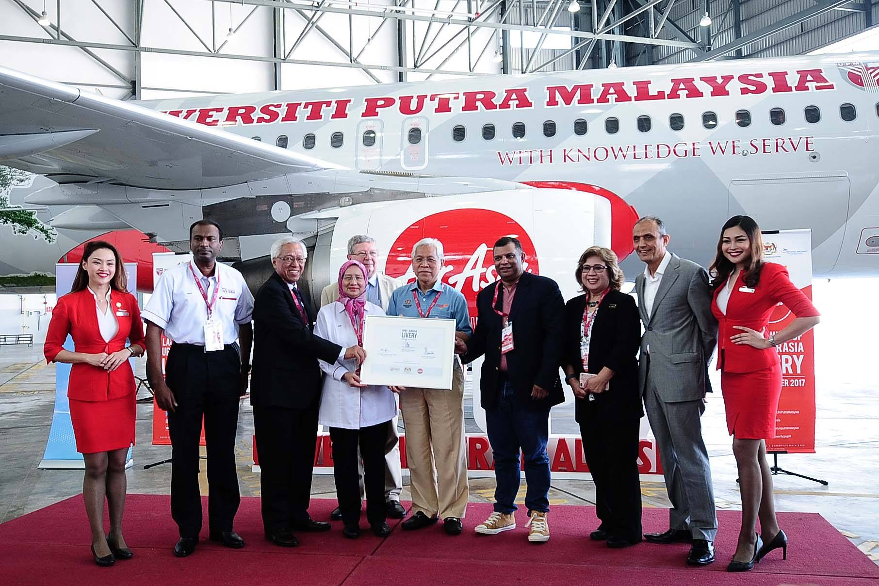 Launching of UPM-AirAsia Livery at Sepang Aircraft Engineering Sdn Bhd (SAE)